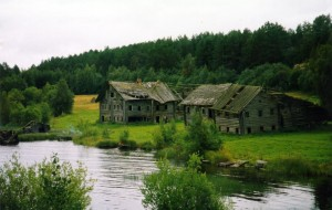 Old houses in Karelia
