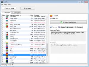 Screenshot of Verbix 9, the verb cpnjugator