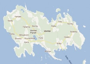 Vormsi, Estonia's fourth largest island (Swedish: Ormsö)