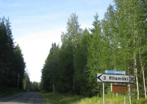 Traffic sign: a Finnish name in the middle of Sweden